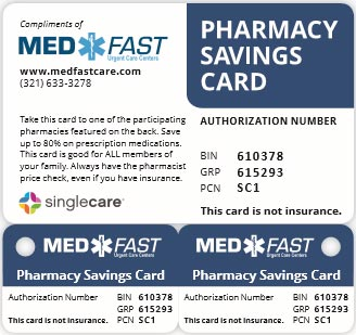 Medfast Discount Pharmacy Card